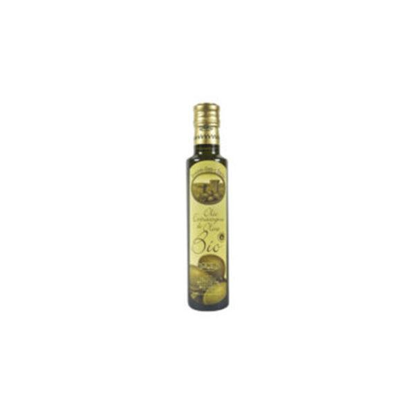 Bottiglia dorica rotonda vetro scuro - olio extravergine di oliva bio (2)