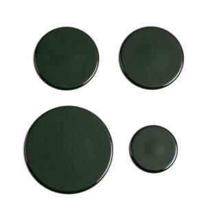 Serie II set coperchi verde