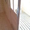 Dettaglio doppia porta casetta Francesco